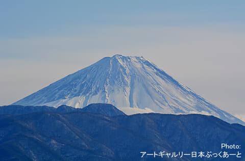 湯村温泉エリアからの富士山です。ギャラリー日本ぶっくあーとのある湯村SC屋上より撮影しました。