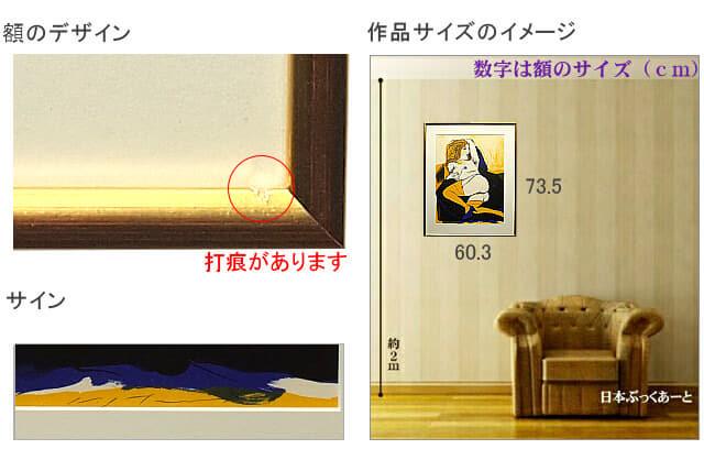 池田満寿夫 リトグラフ 版画集 mixed fruit 作品サイズのイメージ