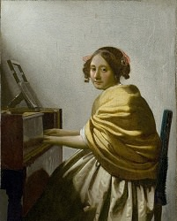 フェルメール 「ヴァージナルの前に座る若い女」 原画