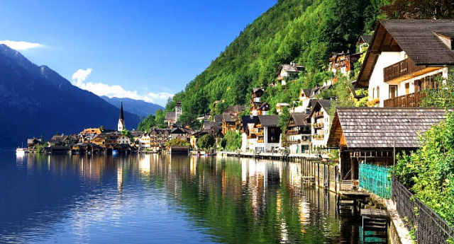オーストリア・ザルツカンマーグートの風景