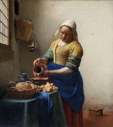 フェルメール「牛乳を注ぐ女」 原画 アムステルダム国立美術館所蔵