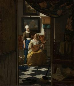 フェルメール 「恋文」 アムステルダム国立美術館