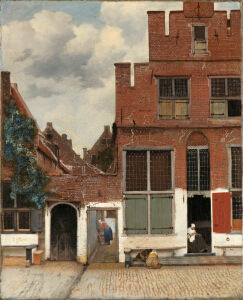 フェルメール「デルフトの家々の眺望 (小路)」 アムステルダム国立美術館