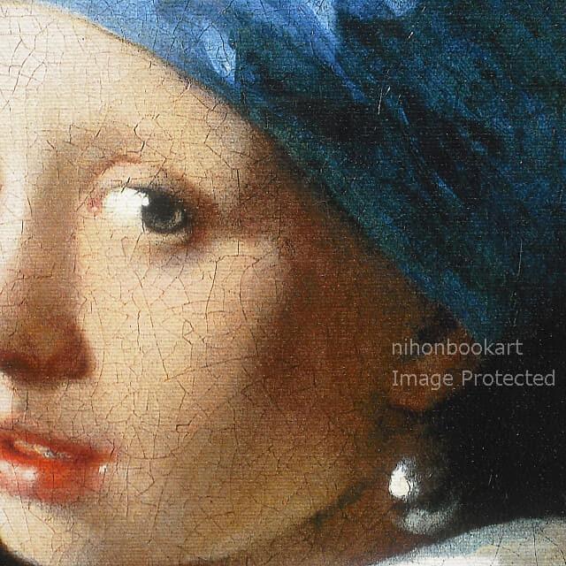 ヨハネス・フェルメール「真珠の耳飾りの少女」レプリカ・部分拡大