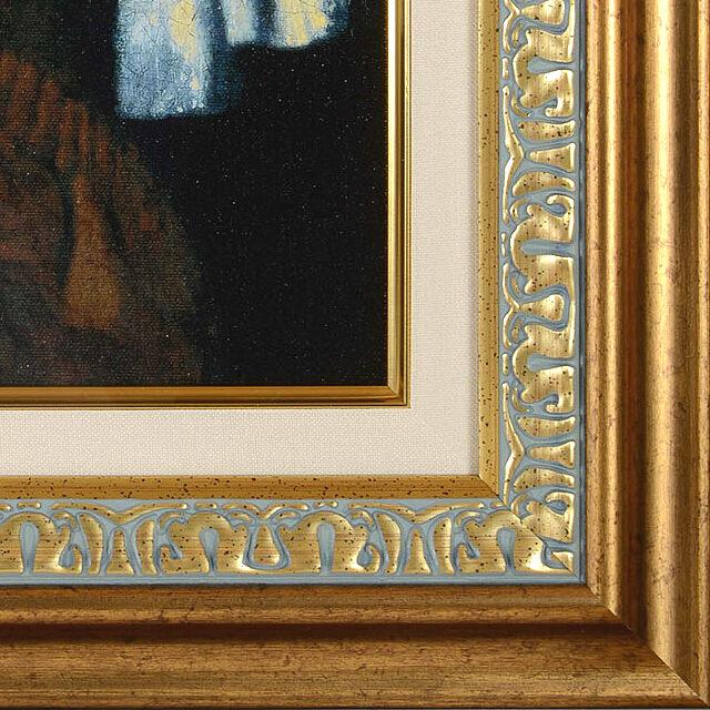 フェルメール「真珠の耳飾りの少女」複製画 スタンダード版 額のデザイン