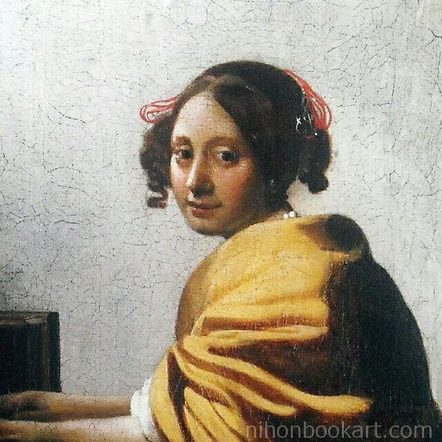 フェルメール 「ヴァージナルの前に座る若い女」 複製画 部分拡大